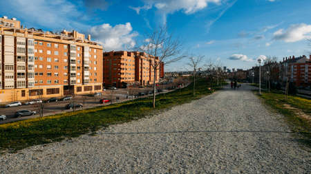 Residential neighbourhood in Las Tablas, Madrid, Spain