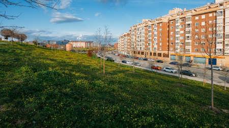 Residential neighbourhood in Las Tablas, Madrid, Spain