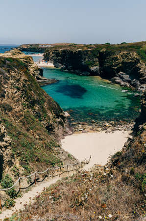 Praia da Samoqueira. Samoqueira Beach, near Porto Covo, Alentejo Region, Portugal