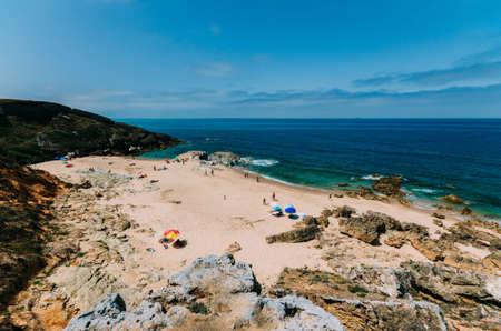 Praia dos Buizinhos beach, in Porto Covo, Alentejo, Portugal Stok Fotoğraf