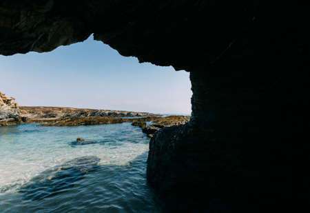 Rocky grotto in Buizinhos beach, Alentejo, Portugal