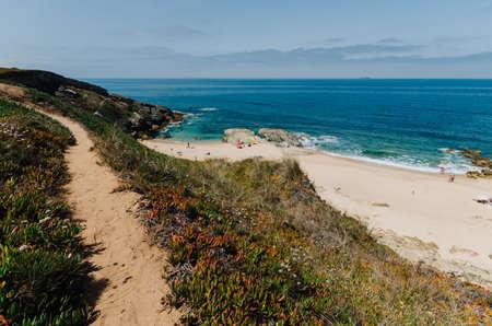 Beach overlooking Pessegueiro island in Porto Covo, Alentejo, Portugal