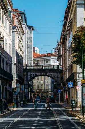 Sao Paulo street in Lisbon, Portugal Editöryel