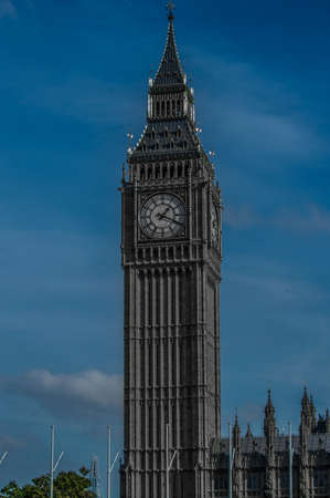 buss: Dispensing comments and presentation, heres Big Ben Stock Photo