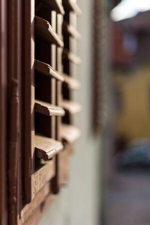 shutters: Shutters in the morning light Stock Photo