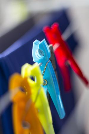 clothes pins: Clothes Pins Stock Photo