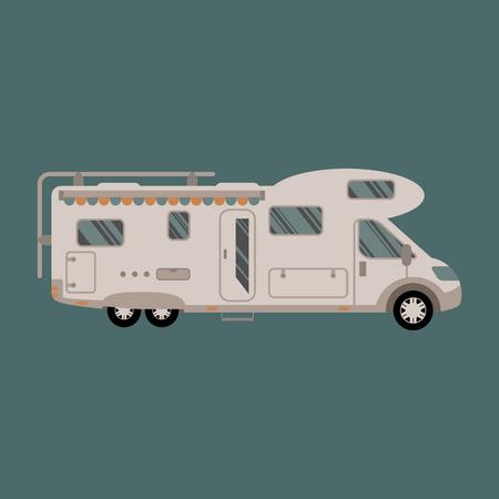 motorhome: Motorhome flat design illustration Illustration