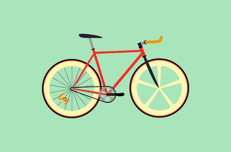Fixie bike flat design illustration Illustration