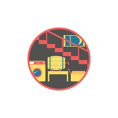 Keller flache Design-Ikone Vektorgrafik
