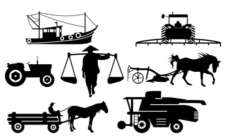 silhouettes: Agricultural silhouettes