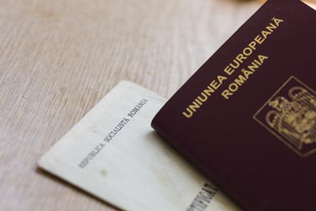 Romanian EU Passport And Socialist Republic Birth Certificate Stock ...