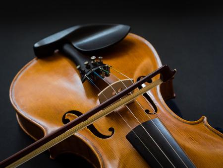 Violin on a dark background