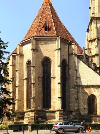Cluj Napoca, Romania - July 20, 2017: View of the St. Michael's Church in Cluj Napoca, Romania