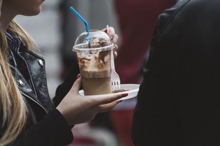 Street food coffee Standard-Bild