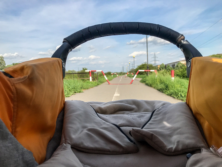 View from inside a stroller
