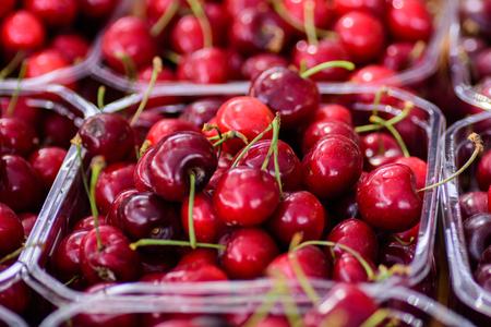 Fresh cherries collected Stock fotó