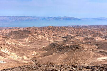 Canyon in the Judean Desert (Midbar Yehuda) on the dead sea, Israel Stock fotó