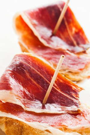 Jabugo ham tapas  First quality of spanish ham