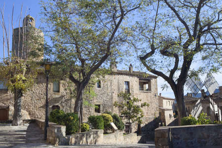 pals: View of the heart of Pals, a medieval village at Costa Brava, Catalonia