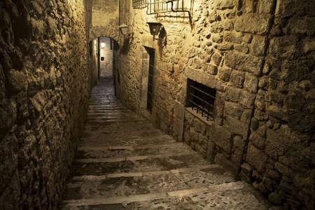 Girona jewish neighborhood, one of the best conserved jewish quarter of Spain.