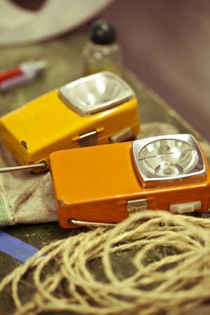 acomodador: Linterna Dos viejos de Usher vintage.