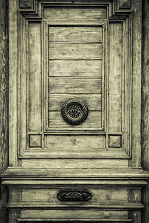 Old mysterious door making background. photo