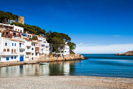 Beach landscape of this small Costa Brava village called Sa Tuna in Begur.