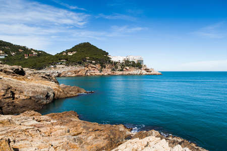 View of this great corner of Costa Brava called Cap Sa Sal in a sunny day.