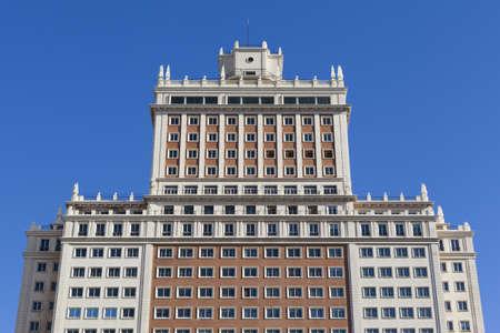 twentieth: View of the Edificio de España in Madrid. One of the best exemple of the twentieth century architecture in Spain.