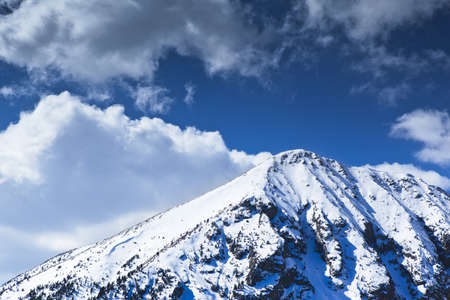 Snowed peak in a great mountain in Pyrenees.