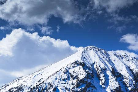 great pyrenees: Snowed peak in a great mountain in Pyrenees.