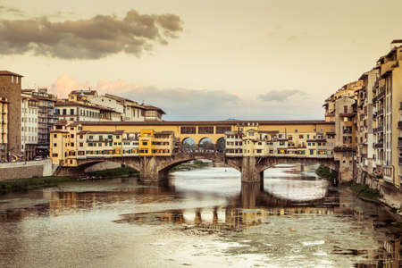 View of Ponte Vecchio in the afternoon. Firenze, Italy.
