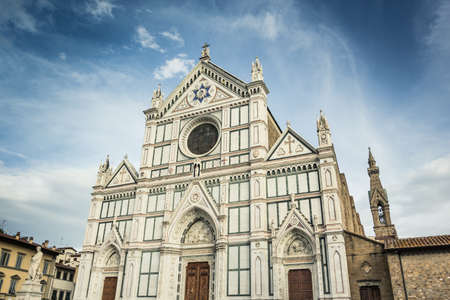 firenze: Duomo of Santa Croce in Firenze. Italy. Stock Photo