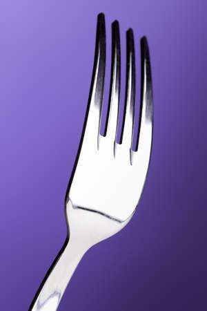 inox: Great studio fork. Stock Photo