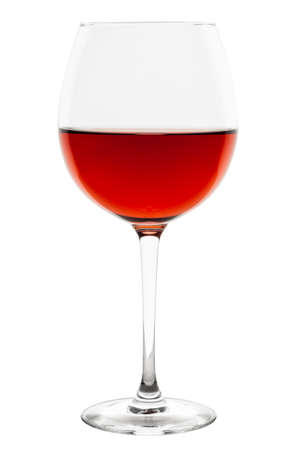 oenology: Red wine glass isolated on white. Stock Photo