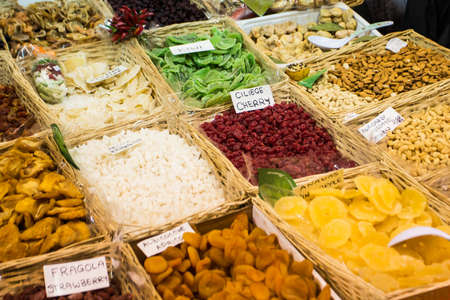 Traditional italian market in Firenze. Tuscany. photo