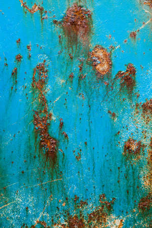 oxidated: Oxidated metal surface of an old fishers ship making abstract texture