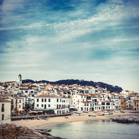Afternoon landscape about Calella de Palafrugell, nice fishers village of Costa Brava.