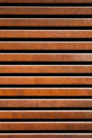 corten: Corten iron fence background.