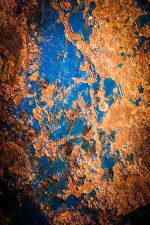 oxidated: Superficie de metal oxidado