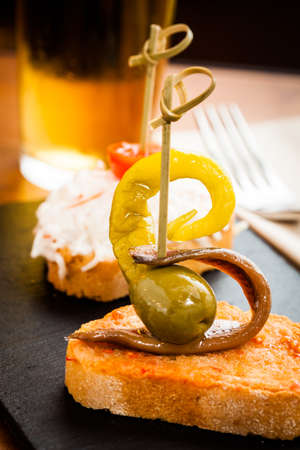 Typical spanish tapas food. Stock Photo - 21296699