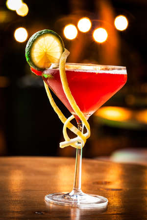 Fresh and elegant cocktail ready to taste it