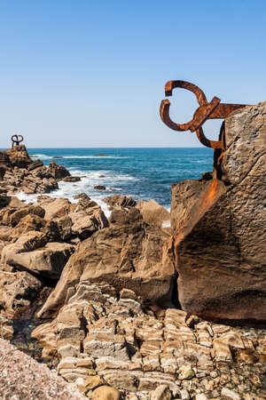 El Peine de Los Vientos, the famous sculpture by Chillida in San Sebastian, Euskadi.