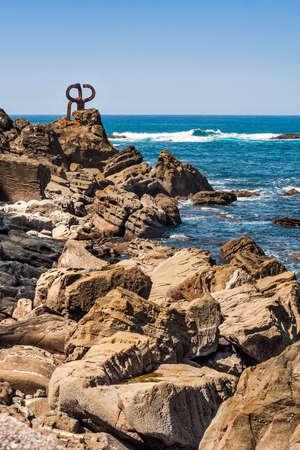 corten: El Peine de Los Vientos, the famous sculpture by Chillida in San Sebastian, Euskadi.