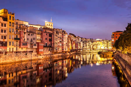 jewish houses: Historical city of Girona, famous by its jewish quarter and the colorful river houses.