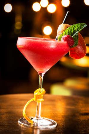 Great strawberry daiquiri in a night club  photo