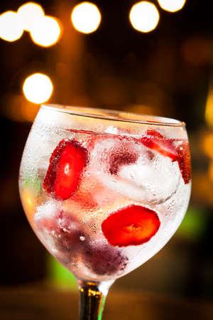Cold Gin Tonic pronto da bere. Archivio Fotografico - 24953566