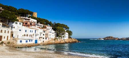 Panorama of Sa Tuna, small traditional village of Costa Brava, Begur.