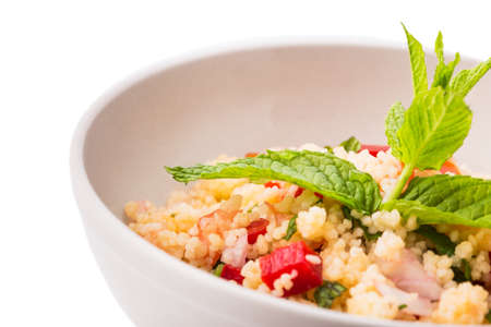 Great taboule isolated on white background. Stock Photo