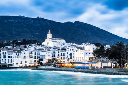 Night in Cadaques, the most picturesque village of Costa Brava.